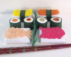 Japanese Felt Food Set Sushi Rice Felt Play by MelsCreativeWishes