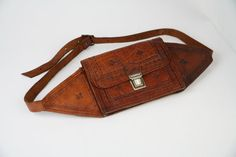Vintage Brown Distressed Leather Hip Bag Fanny by RapidCityVintage, $68.00