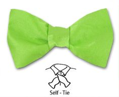 Bow Ties Self and Pre Tied for men and boys all occassions Silk Bow Ties, Green Satin, Silk Satin, Fashion Accessories, Boys, Wedding, Men, Baby Boys, Valentines Day Weddings