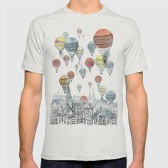 Lovely hot air balloon watercolor esque t shirt!