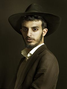 Credit: Pierre Gonnord  Attia, a young Lubavitcher Orthodox Jew in the Ghetto, looks like he's stepped out of a Renaissance painting