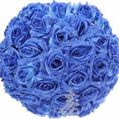 Blue Rose Flower Ball Lantern