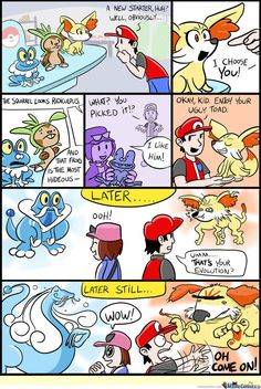 Funny Pokemon X and Y comic. WHO WILL YOU CHOOSE?!?