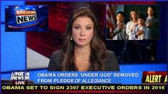 Fox News The FB Page: Obama Orders Phrase 'Under God' to be Banned on all Government Property
