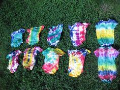 Tie Dye Baby Oneies by Simple Designs