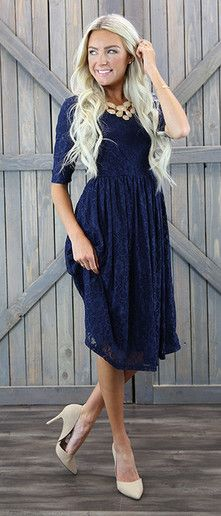 Modest lace bridesmaid special occasion dress