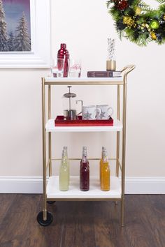 Looking to entertain guests? Create a one-of-a-kind drink cart for your next gathering