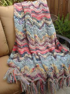 Ravelry: mcmaori's Colinette Absolutely Fabulous Throw