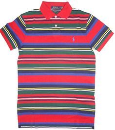 POLO RALPH LAUREN Men\u0026#39;S Custom Fit Mesh Pony Shirt Cotton Polo Ralph Lauren Men Custom Fit Stripe Polo Ribbed polo collar and cuffs.Uneven vented hem.