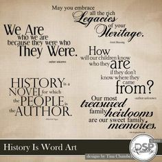 History Is Word Art | Family History | Pinterest