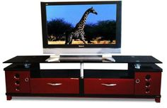 Black and Red 1.8 Meter TV Unit