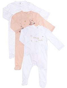 Lot 3 pyjamas jersey Bébé fille - Kiabi - 9,99€