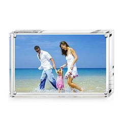 4705c56acbe7 Magnetic Photo FrameAmeiTech Acrylic Pictures Frames Holds 5 x 7 inches  Pictu.