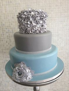 Ruffle Wedding Cake - by Over The Top Cakes Designer Bakeshop @ CakesDecor.com