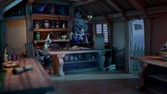 Magic Shop - Front Desk & Back Room, Amit Ginni Patpatia Shop House Plans, Shop Plans, Pop Up, Lettering, Design Ikea, Shop Work Bench, Elderly Home, Layout, Gaines