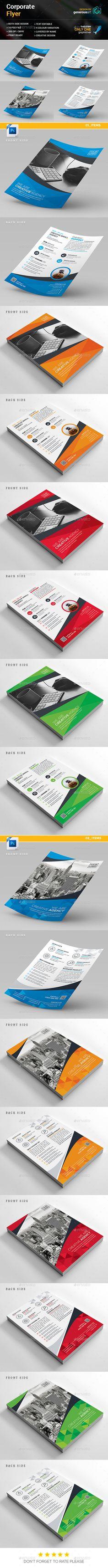 Flyer Template PSD Bundle. Download here: https://graphicriver.net/item/flyer-bundle-2-in-1/17557989?ref=ksioks