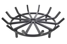 Super Heavy Duty Wagon Wheel Round Firewood Grate for Fire Pit - Made in the USA