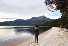 Walking along the sand at Port Davey in the remote SW on Tasmania. Image sent in by SVAPhotography - Aerial Tasmania