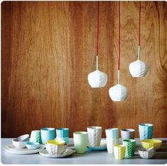 The mod collective - delicate porcelain light fittings