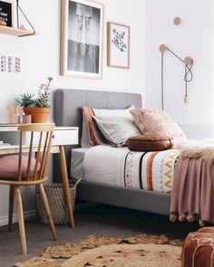 11 Teen Bedroom Ideas You And Your Kids Will Both Love. 10 Best Teen Bedroom Ideas - Cool Teenage Room Decor for Girls and Boys Even if you're not allowed inside once you're done decorating. Design Your Bedroom, Small Room Design, Girl Bedroom Designs, Girls Bedroom, Girl Rooms, Childrens Bedroom, Summer Bedroom, Boho Teen Bedroom, Young Woman Bedroom