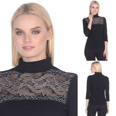 Чёрная водолазка с кружевом, MSLS Blouse Dress, Ruffle Blouse, Dress Brands, Clothes, Tops, Dresses, Women, Fashion, Outfits