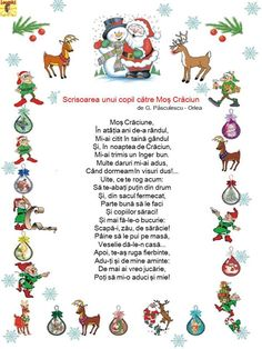 Cele mai frumoase poezii de Crăciun - Logorici Craft Activities For Kids, Winter Activities, Projects For Kids, Emotions Activities, Preschool Christmas Crafts, Kids Poems, Christmas Books, Kids Reading, Kindergarten Worksheets