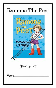 Ramona The Pest (Beverly Cleary) Novel Study / Reading Comprehension Journal from McMarie on TeachersNotebook.com -  (30 pages)  - A fun, engaging, 30-page booklet-style Novel Study complete with a challenging, book-based Word Jumble and Word Search.  Based on Beverly Cleary's wonderful 'Ramona The Pest.'