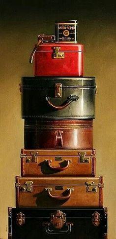 ♡ I love old luggage.   #write #writinginspiration #everythingonpaperisperfect Write every single day!  Check out my blog at: www.everythingonpaperisperfect.com
