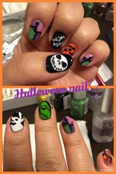 Halloween nail ~the Nightmare before Christmas~