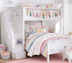 Catalina Stair Loft Bed The post Catalina Stair Loft Bed appeared first on kinderzimmer. Bunk Beds For Girls Room, Bunk Beds With Stairs, Teen Girl Bedrooms, Guest Bedrooms, 6 Year Old Girl Bedroom, Loft Beds, Shared Bedrooms, Teen Bedroom, Colors For Girls Bedroom