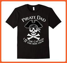 Mens Pirate Dad Captain Dad Funny T-Shirt 2XL Black - Funny shirts (*Partner-Link)