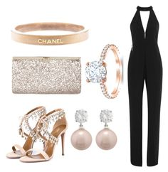 """Keep it classy with a little twist"" by camilla-sjoeberg on Polyvore featuring Halston Heritage, Aquazzura, Jimmy Choo and Chanel"