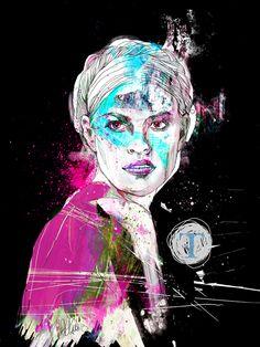 Portrait by Anna Ulyashina - illustrator, via Behance