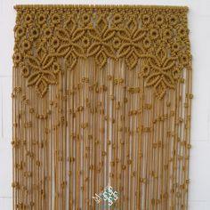 cortina de macram modelo reina confecciono estas cortinas a medida y por encargo pues