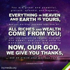 1 Chronicles 29:11-13(GNT)