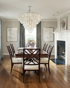 traditional dining room Interior design Arkansas