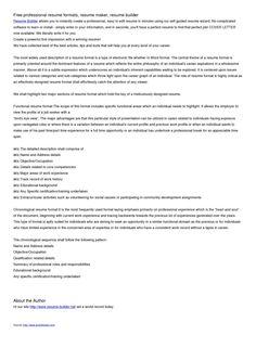 Best Resume Builder - http://www.jobresume.website/best-resume ...