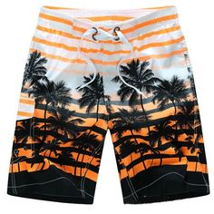 Little Cute Mermaid Decor Pattern Mens Fashion Casual Classic Beach Shorts Quick-Dry Gym Adjustable Drawstring Shorts Yoga