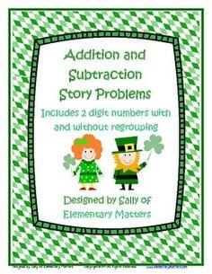 St. Patrick's Day Math Problems FREEBIE
