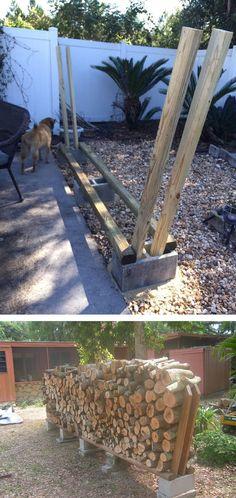 Easy DIY Outdoor Firewood Rack Ideas