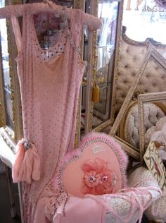 missingsisterstill:  Antiques (pink pearls and pillows)