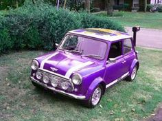 :O classic purple mini cooper! WANT>>my husband would have an absolute fit for this, favorite car in his favorite color