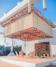 Ridiculous Tricks Can Change Your Life: Wedding Flowers Reception Decor wedding flowers tulips color schemes.Wedding Flowers Diy How To Make. Desi Wedding Decor, Wedding Hall Decorations, Wedding Stage Design, Luxury Wedding Decor, Marriage Decoration, Wedding Entrance, Wedding Mandap, Wedding Reception Backdrop, Garland Wedding