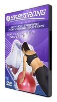 """Sk8Strong """"The Competitive Skater"""" DVD.  Off-ice training for the competitive figure skater age 11+, juvenile or above."""