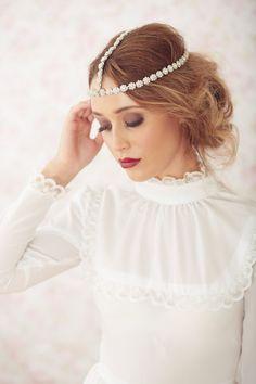 Love Light and ...You  Crystal  Headpiece  Bridal by BrideLaBoheme, $135.00