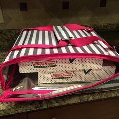 Thirty-One Gifts - The perfect pair...Krispy Kreme and the Pack A Party Thermal! #ThirtyOneGifts #ThirtyOne #JewellByThirtyOne #Monogramming #Organization #PackAPartyThermal