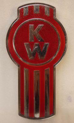 KENWORTH TRUCK TRACTOR metal emblem
