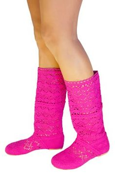 Amazon.com: BABOOTS Women's Summer HOT PINK Crochet Boots: Shoes   #love #cute #girl #beautiful #happy #smile #summer #fashion #style #pretty #my #boots #my #likeforlike #life #sun #cool #look #nice #funny #followforfollow #girls #colorful #hot  #ocean #miami  #beach #exotic #followback #beauty #stylish #styleblog #styleblogger #photo #loveit #awesome #good #best #store #buy #summerboots #crochet #baboots #cottonshoes #cotton #crochetboots #celebrity #natural