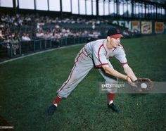 Marty Marion, baseball player for the Cardinals and St. Louis Browns, is shown…