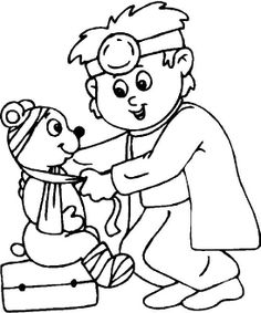 Doctor Hospital Coloring For Kids